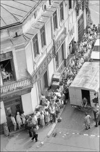 Опашка за храна в Букурещ. Юли 1982 г.