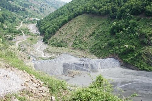 Хвостохранилището на мина Саса